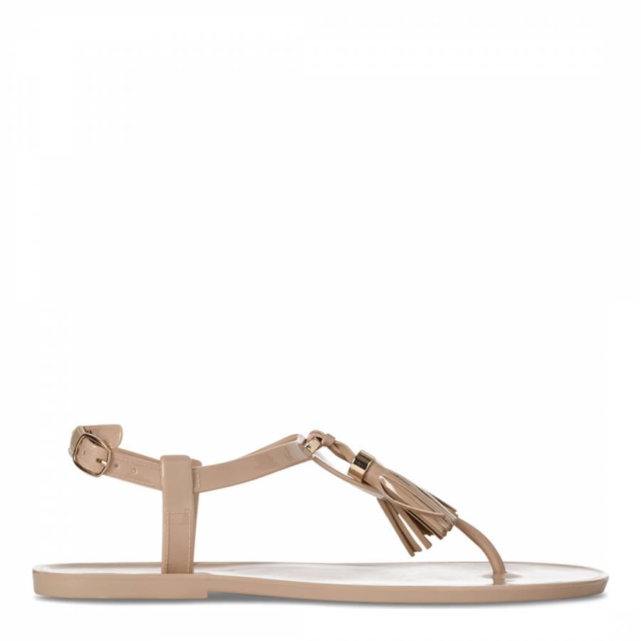 9723f7653a53 Carvela Kurt Geiger Nude Jelly Tassel Detail Stupify Sandals