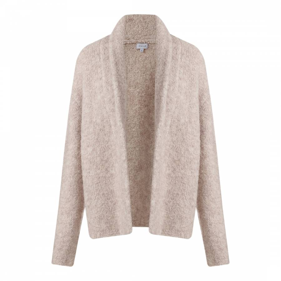 9071c5848 Light Beige Boucle Wool Knit Cardigan - BrandAlley