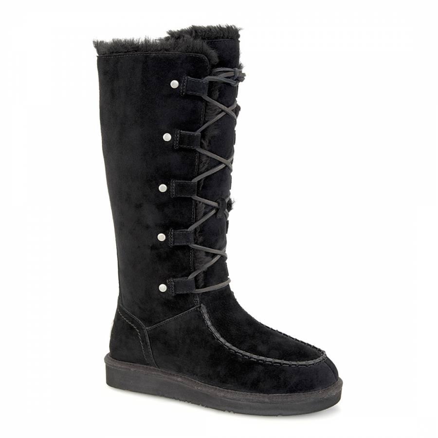 465744926d0 Black Suede Appalachin Calf Boots