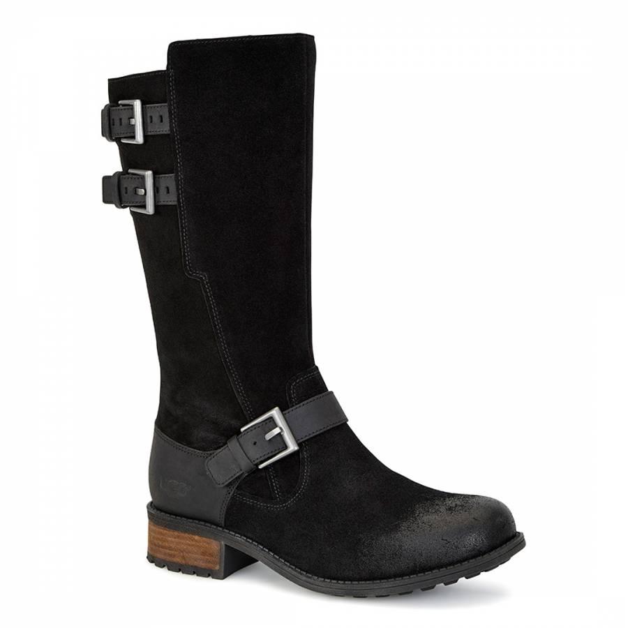 UGG Black Suede Everglayde Boots