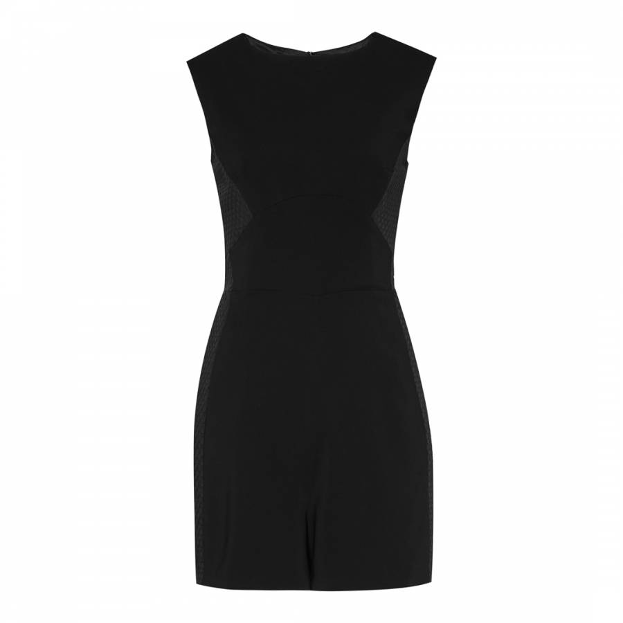 ce3bd75a61 Black Maia Textured Playsuit - BrandAlley