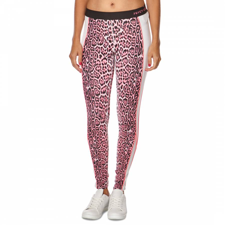7fd0c475be019d Juicy Couture Pink Leopard Print Sports Leggings