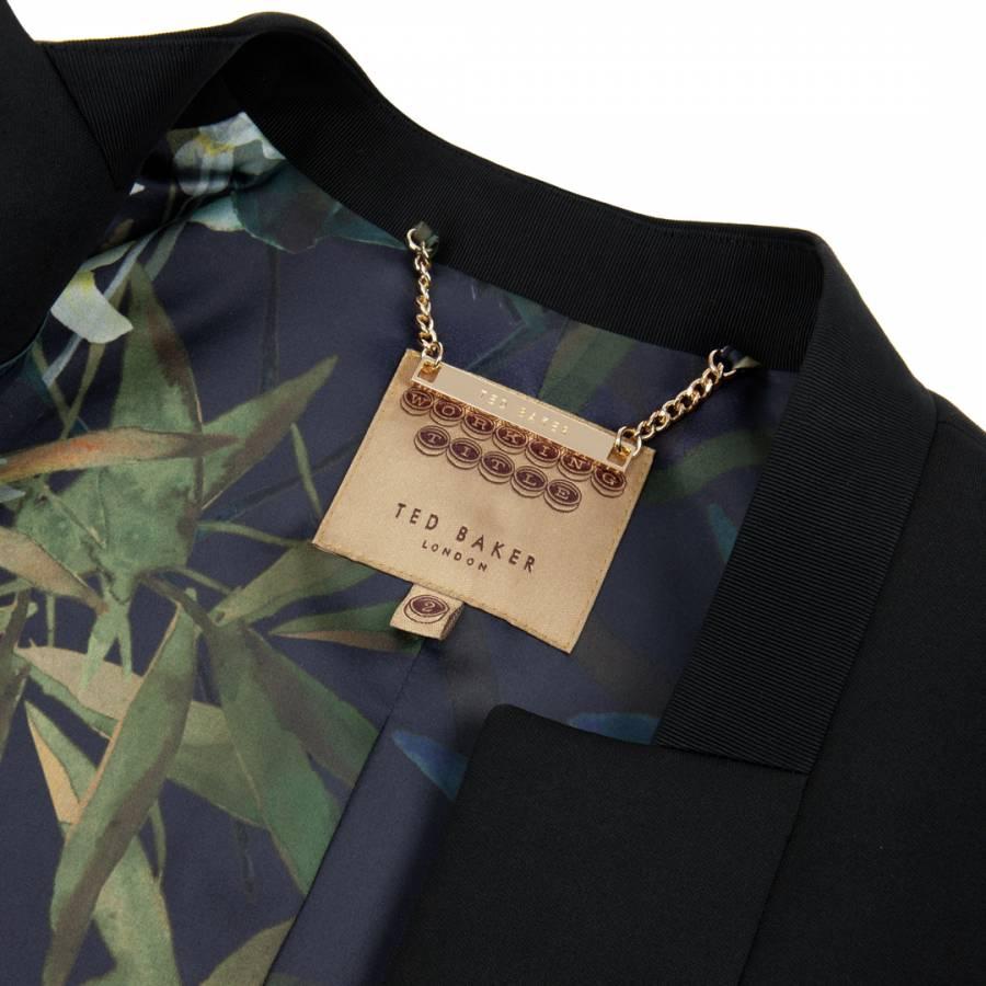 8d00a2b9e8e99 Ted Baker Black Chaya Neoprene Suit Jacket. prev