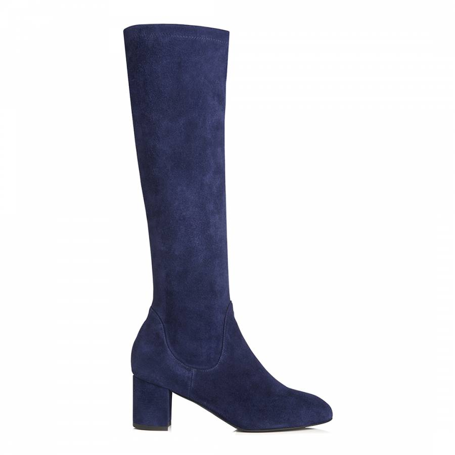 e0c72a52bed Denim Blue Suede Keri Knee High Boots - BrandAlley