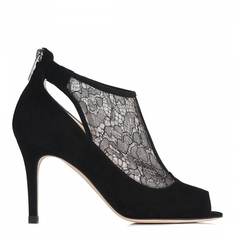 a5adca4e52572 Black Lace Insert Candy Sandals - BrandAlley