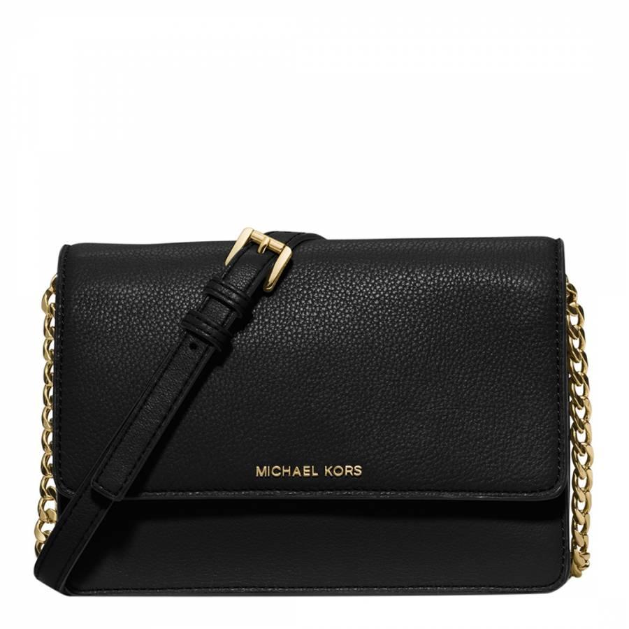 9811f7265e2c Michael Kors Black Leather Small Daniela Cross Body