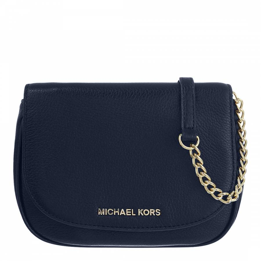 8e9ffd9e18 Navy Leather Bedford Small Cross Body Bag - BrandAlley