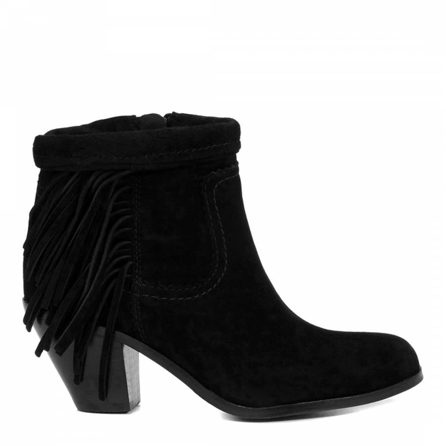 cb3dd9e595fa9d Sam Edelman Black Suede Fringed Louie Ankle Boots. prev. next. Zoom