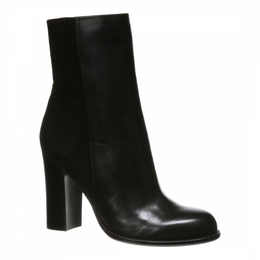 8faf1a5d4d42 Sam Edelman Black Leather Reyes Ankle Boots. prev. next. Zoom