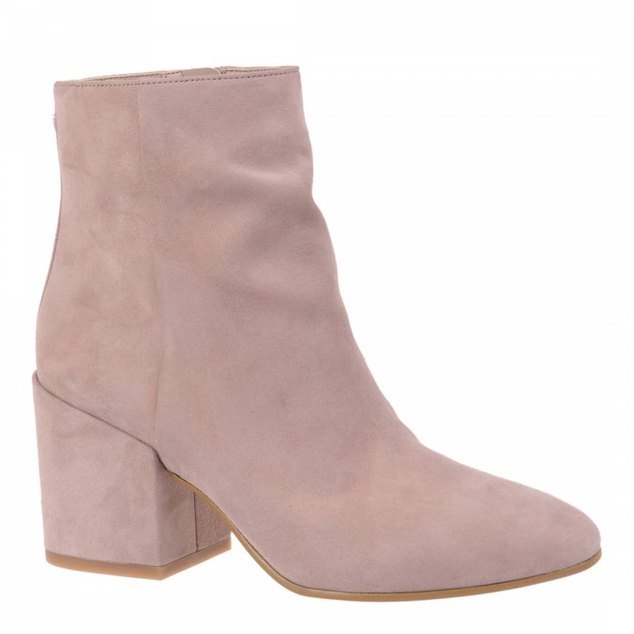 114d545c522b94 Mauve Pink Suede Taye Ankle Boots - BrandAlley