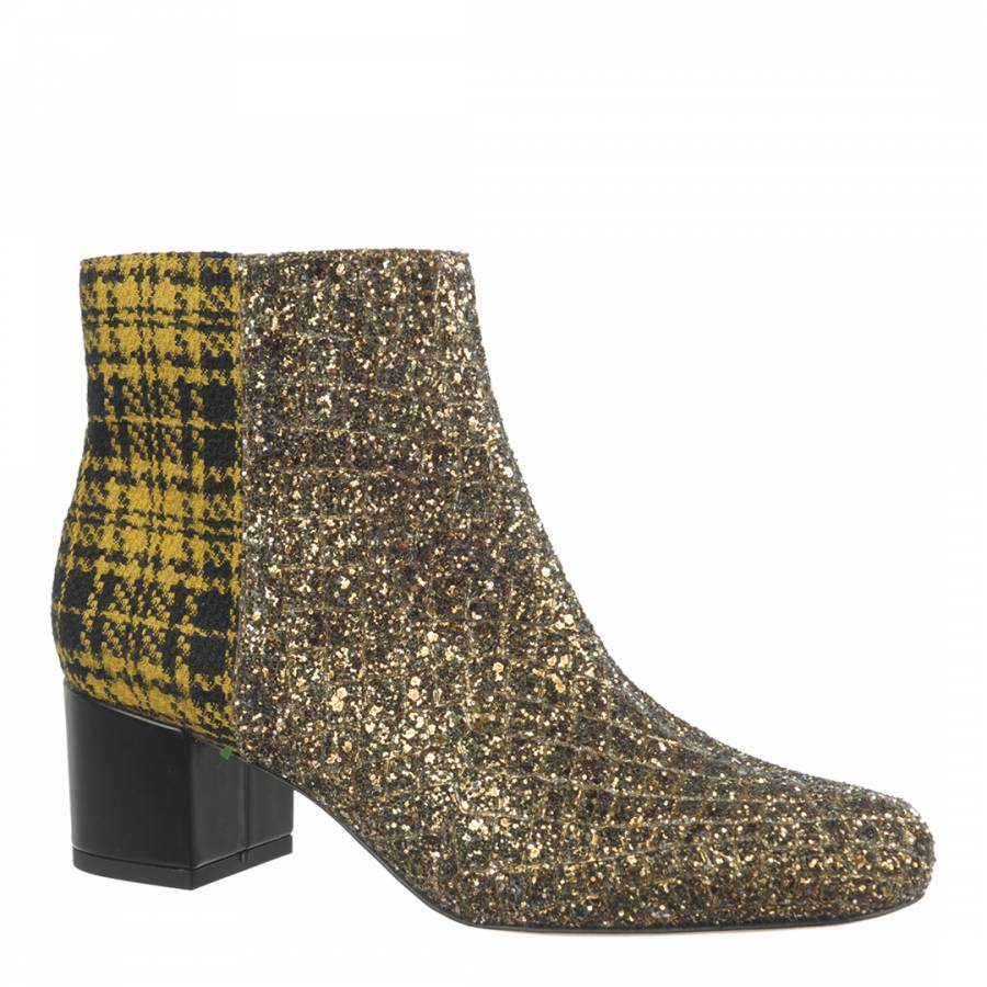 0cb490fadc5d1 Gold Edith Ankle Boots - BrandAlley