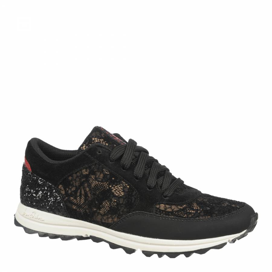 24f43f1d877b0a Sam Edelman Black And Red Lace Des Trainers. prev. next. Zoom