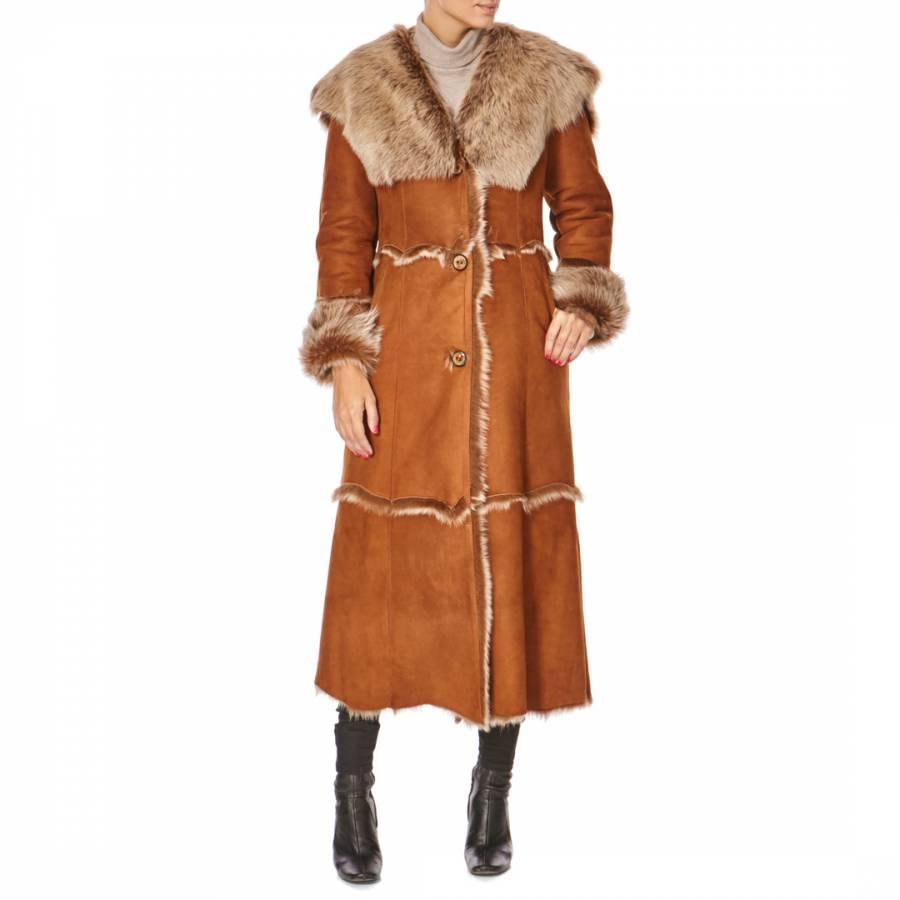 125f579477 Ashwood Shearling Whisky Full Length Hooded Shearling Coat