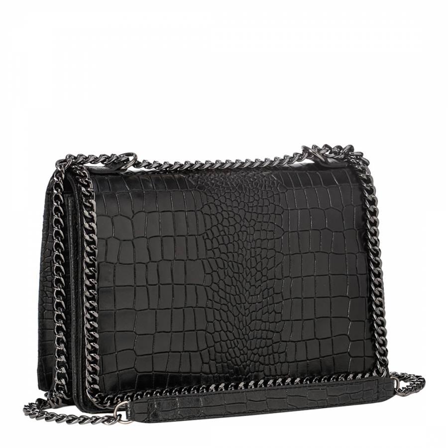 Black One Chain Shoulder Bag - BrandAlley d7a3df7e353ea