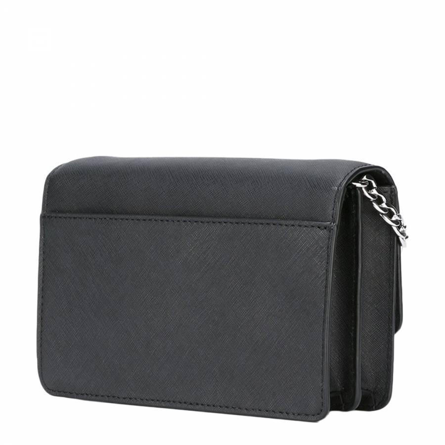 4aee7e90326a Black Leather Daniela Small Crossbody - BrandAlley