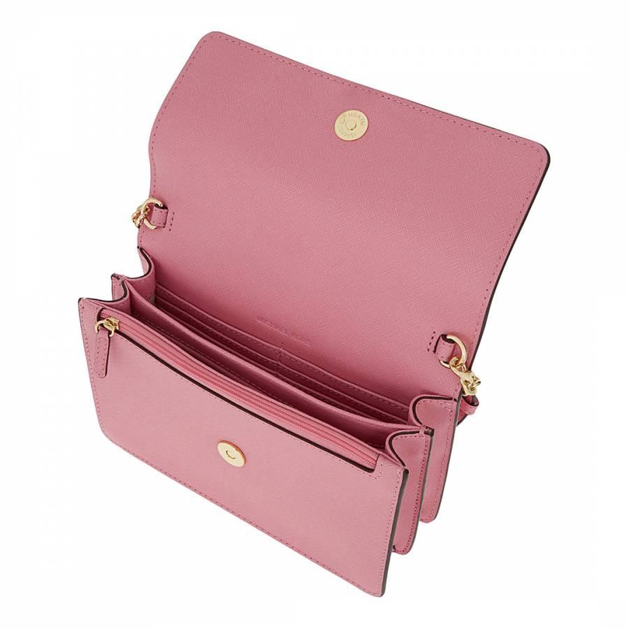 c43367a207bd Pink Leather Daniela Small Crossbody - BrandAlley