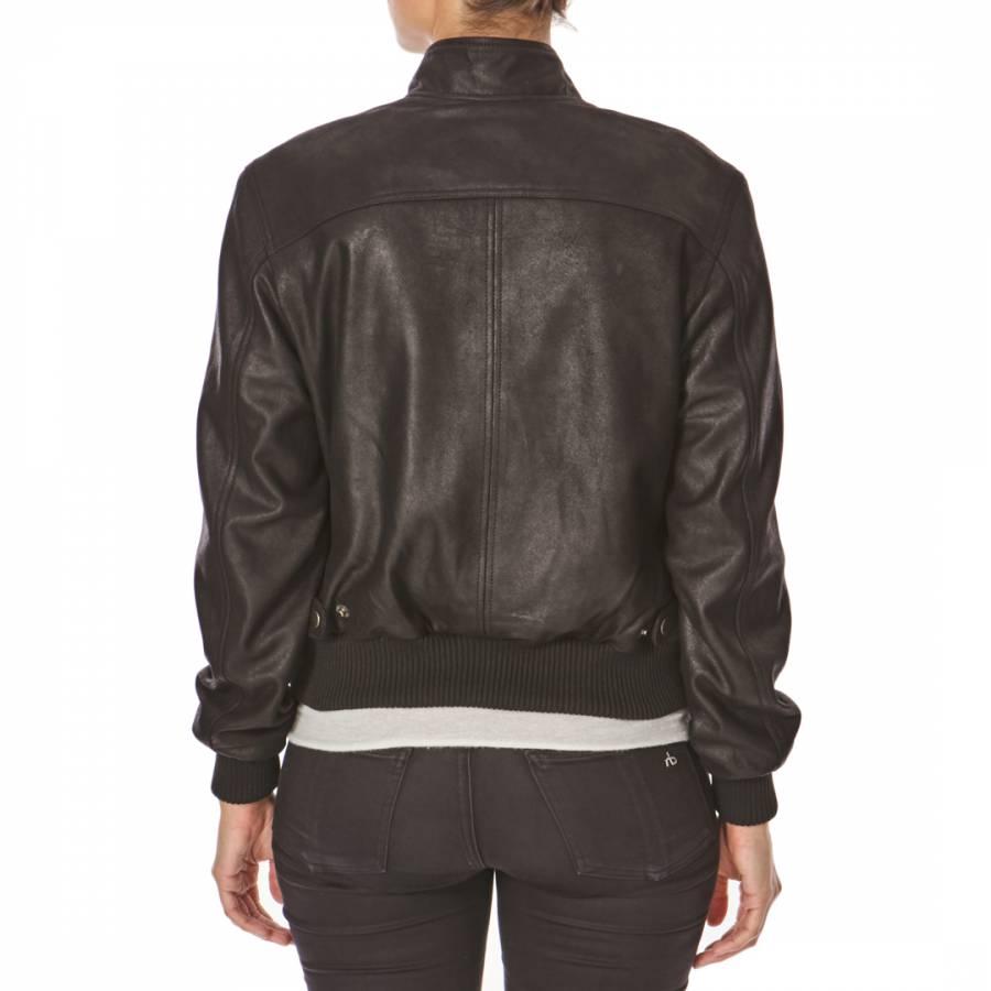 Caterpillar leather jacket