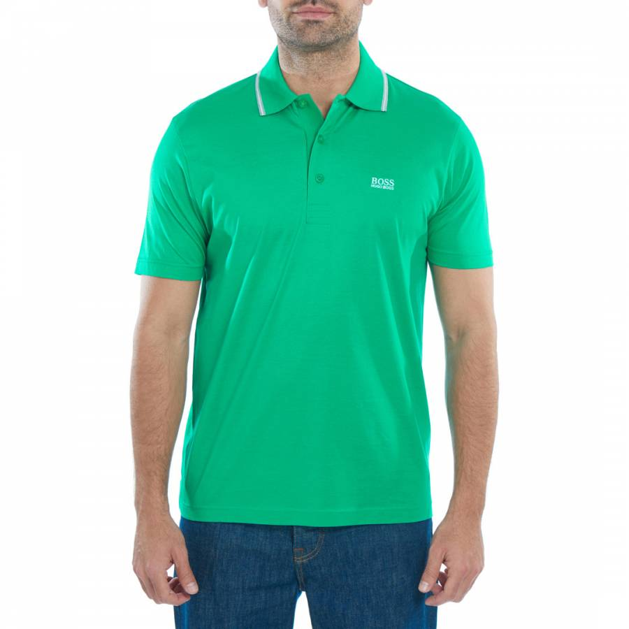 d538d76a4 Green GR-Patry Short Sleeve Cotton Polo Shirt - BrandAlley