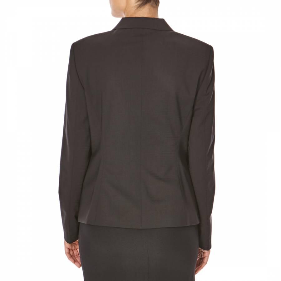 5a66c2245 HUGO BOSS Women's Black Fitted Tartan Wool Blend Double Breasted Blazer  Jacket