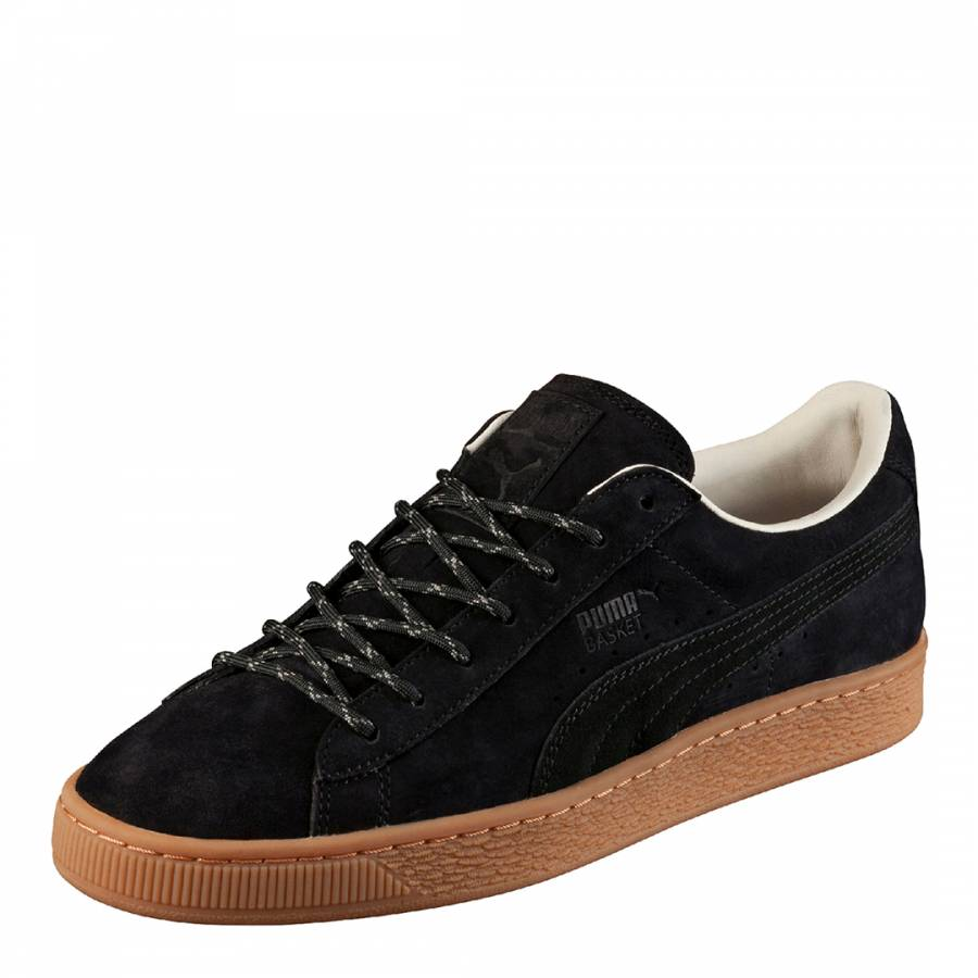 6c2c9cc9b4c9 Black Suede Basket Classic Winterised Trainers - BrandAlley