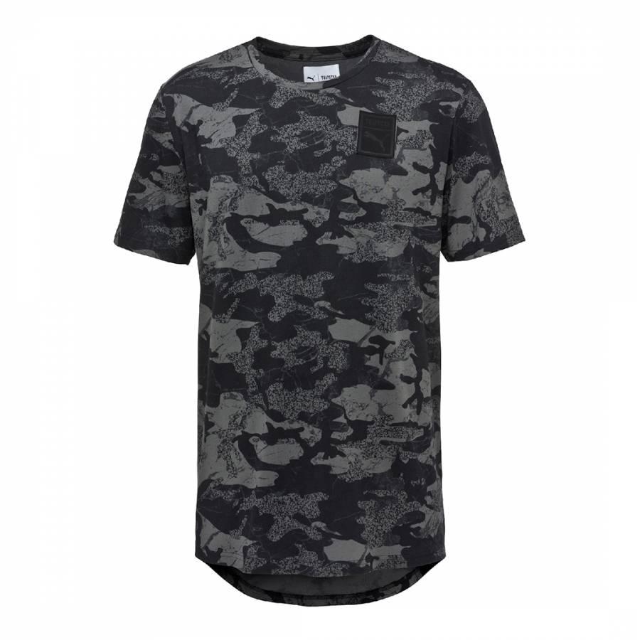 a7fa3bfc3f8647 Men s Black Camo Puma X Trapstar Logo T Shirt - BrandAlley