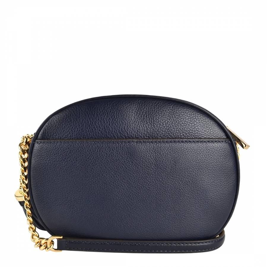 23cd84c1c9bd Navy Ginny Medium Leather Crossbody Bag - BrandAlley