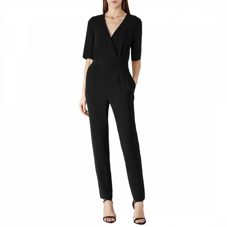 2d96d60959e3 Reiss Black Brooke Slim Leg Jumpsuit. prev. next. Zoom