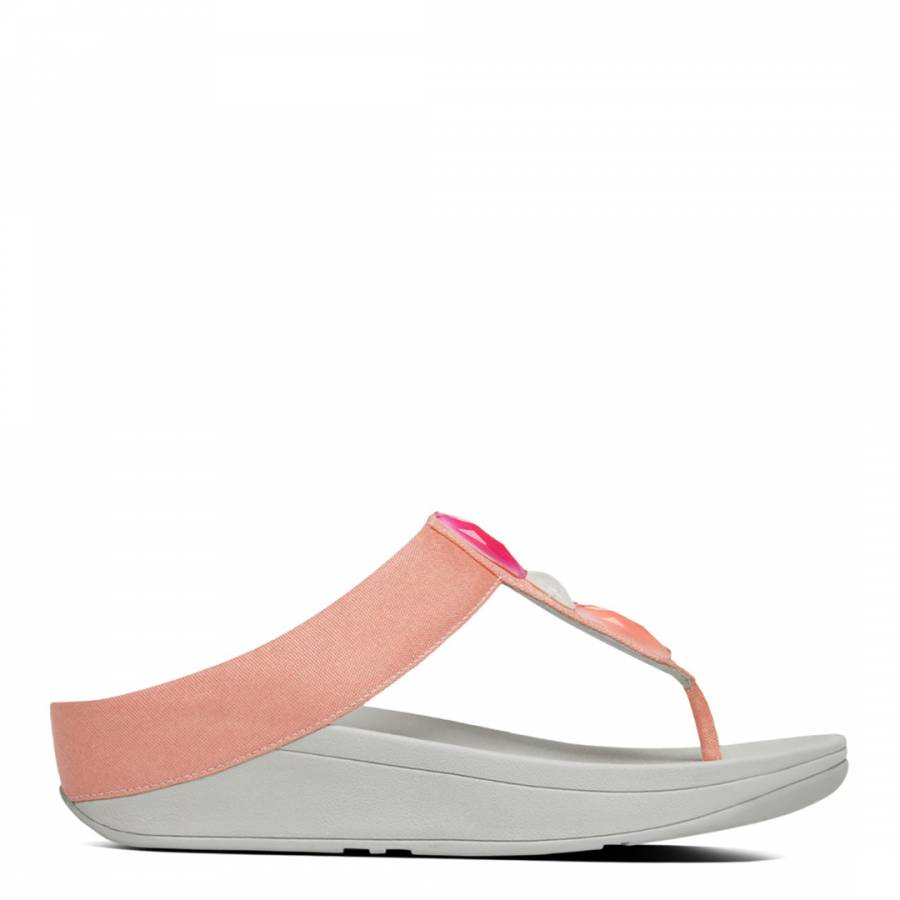 83137c61f21b24 Orange Pink Sweetie Toe Post Sandals - BrandAlley