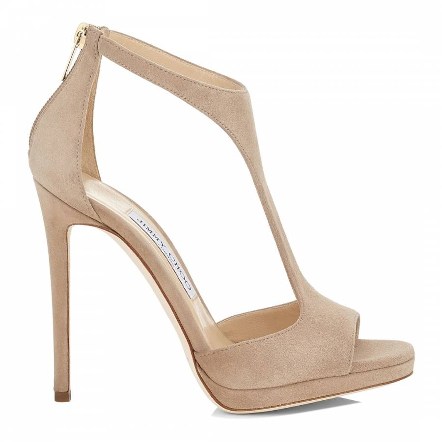 d1512814e32f Nude Suede Lana 120 T-Bar Sandals - BrandAlley