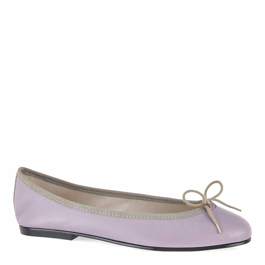 a25a5c6df03e6 Lilac/Beige Leather India Ballet Flats - BrandAlley