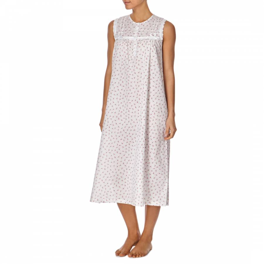 White Raspberry Dittsy Floral Strappy Nightdress - BrandAlley 6a89e6e50