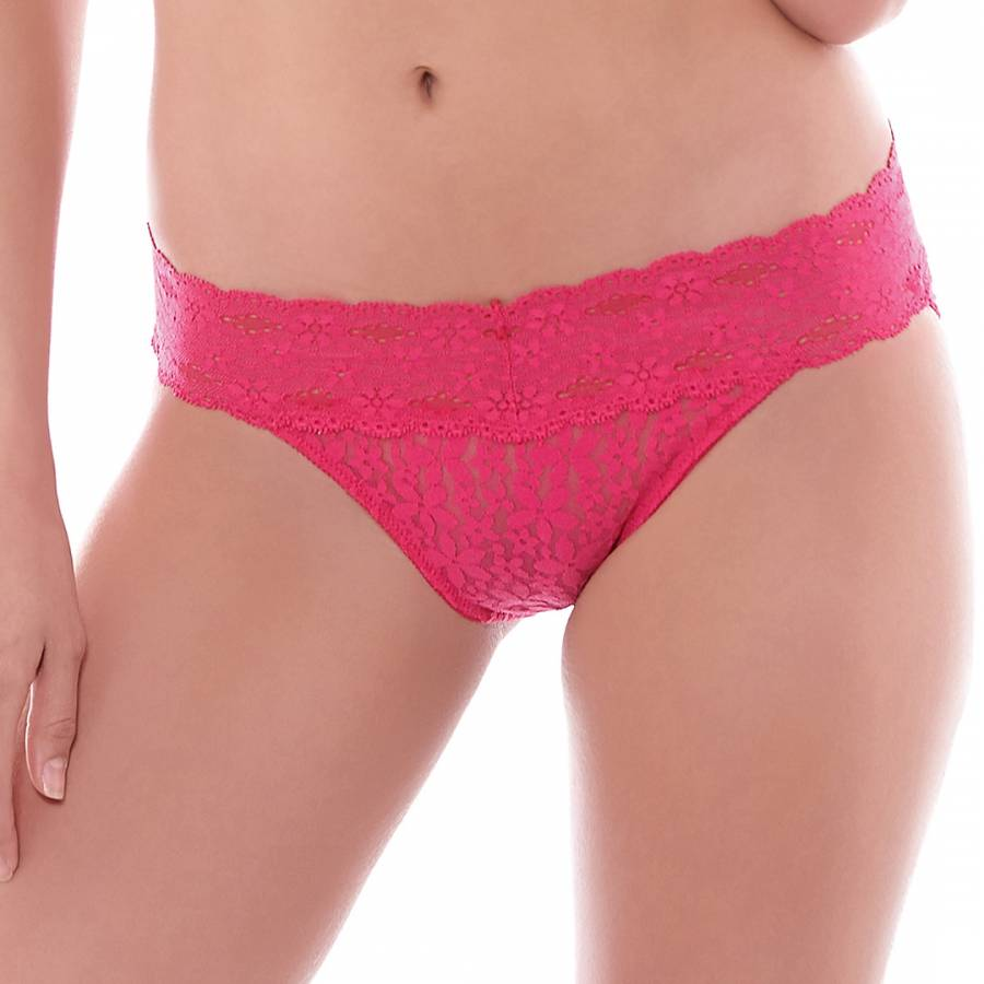 fc3ee0c125a3 Pink Halo Lace Bikini Briefs - BrandAlley