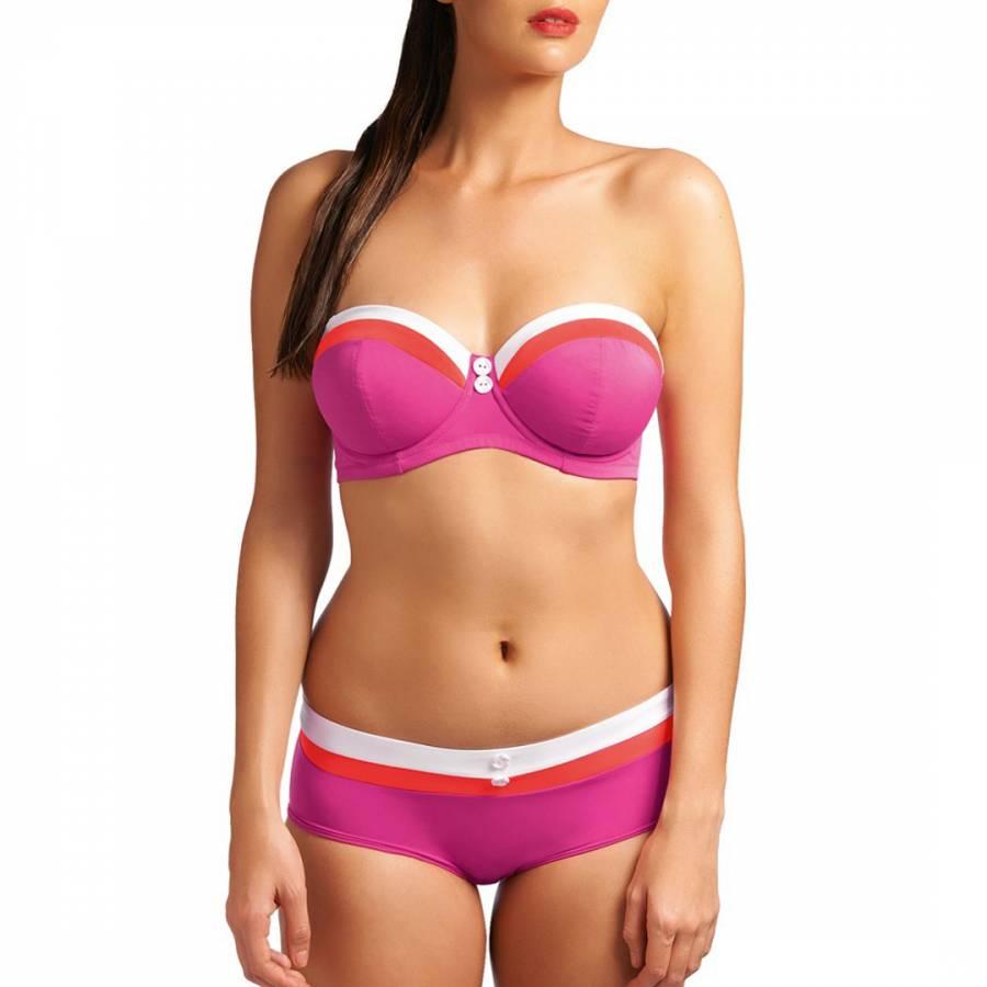449389d84b Pink Sorbet Revival Underwired Bandeau Padded Bikini Top - BrandAlley