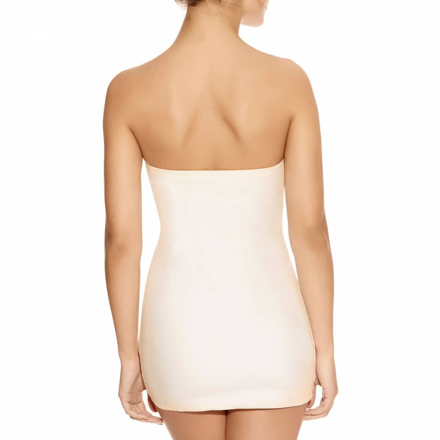 b47f7a841e5 Ivory Deco Shape Underwired Moulded Strapless Slip - BrandAlley