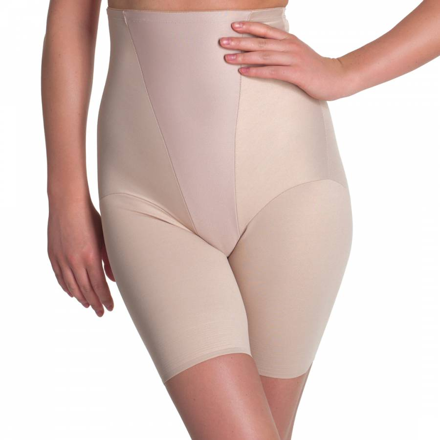 83fdf8f062 Nude High Waist Long Leg Shorts with Rigid Front - BrandAlley