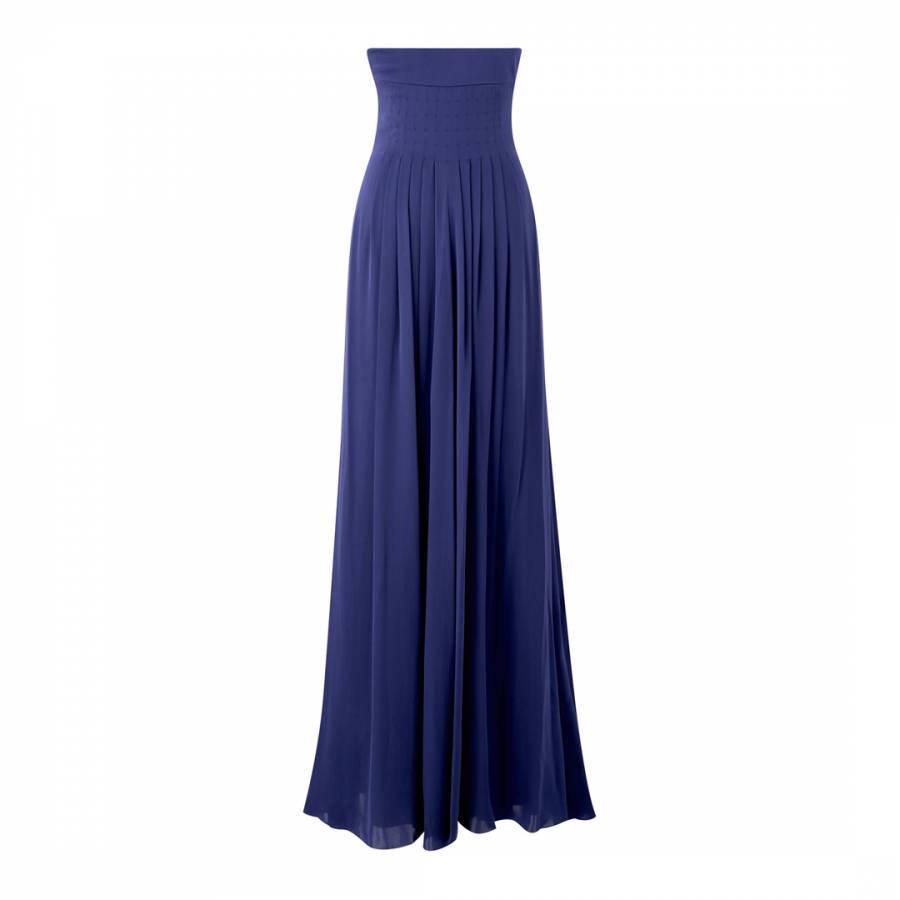 Amanda Wakeley Woman The Cronado Pleated Silk Gown Cobalt Blue Size 16 Amanda Wakeley tKpHRoHK