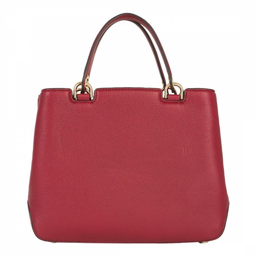 55eaf3b09f56ef Michael Kors Cherry Red Leather Anabelle Handbag
