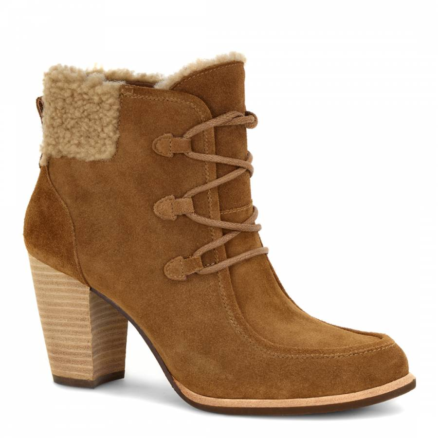 UGG Womens Chestnut Suede Analise Ankle Boots