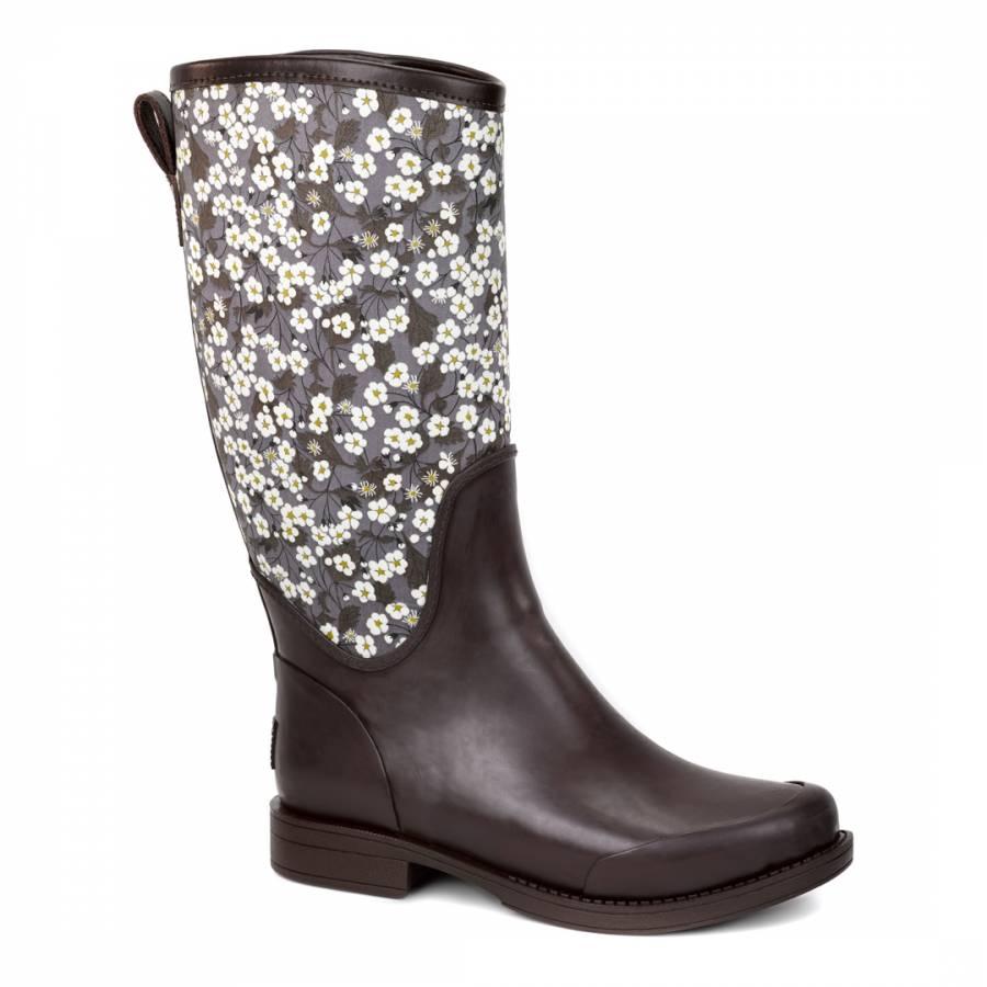 4dcab4616b8 UGG Black Reignfall Liberty Rain Boots