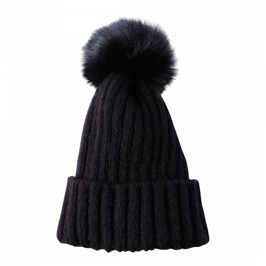 JayLey Collection Luxury Faux Fur Pom Pom Hat 57cd262f6fa