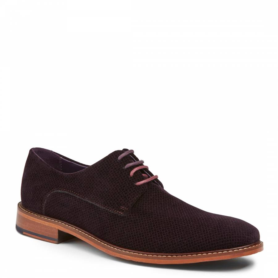 064e0bb8be6a9 Ted Baker Men s Dark Red Suede Nierro Derby Shoes. prev. next. Zoom