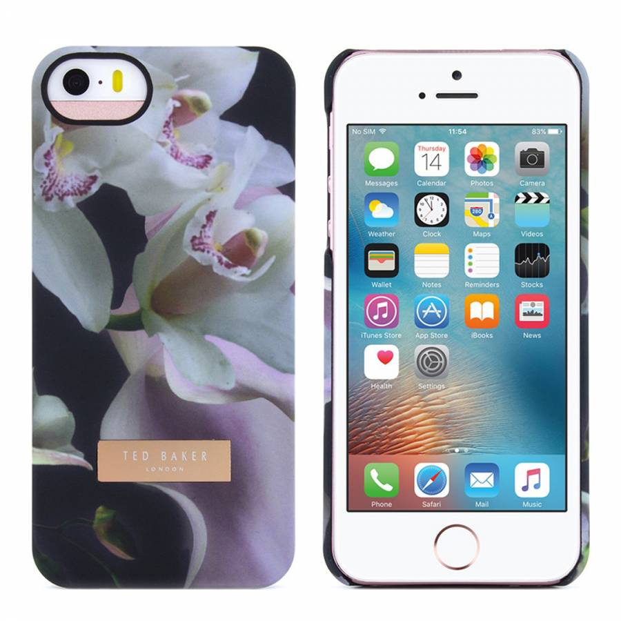 f5b0a0d4ec8b Black Ethereal Posie iPhone 5 5S Soft Feel Hard Shell Case - BrandAlley