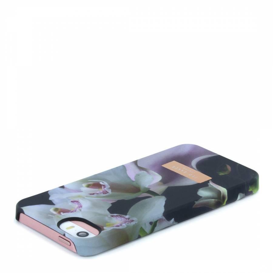 7cbd53c1e Black Ethereal Posie iPhone 5 5S Soft Feel Hard Shell Case - BrandAlley