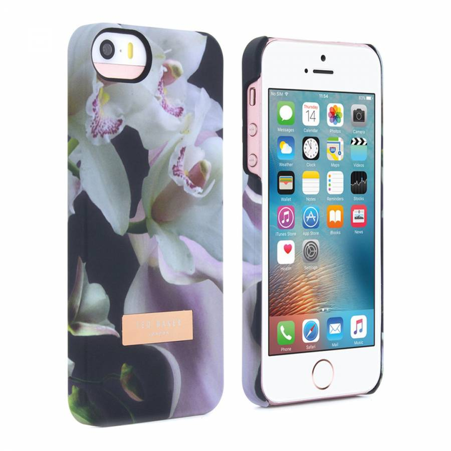 2db8bfb2a Ted Baker Black Ethereal Posie iPhone 5 5S Soft Feel Hard Shell Case. prev
