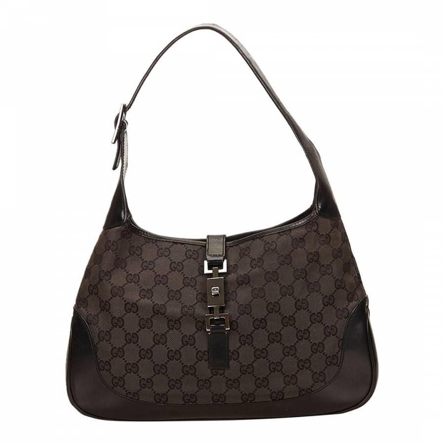 29dfebb85cba Black Jacquard GG Jackie Shoulder Bag - BrandAlley