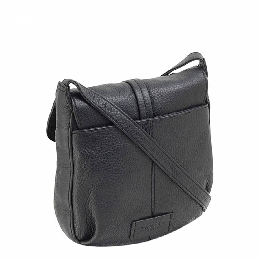 Radley Black Small Leather Grosvenor Flapover Cross Body Bag 9a92da306e2ab