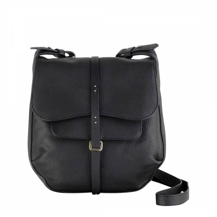 Radley Black Medium Leather Grosvenor Flapover Body Bag 655367bd37287