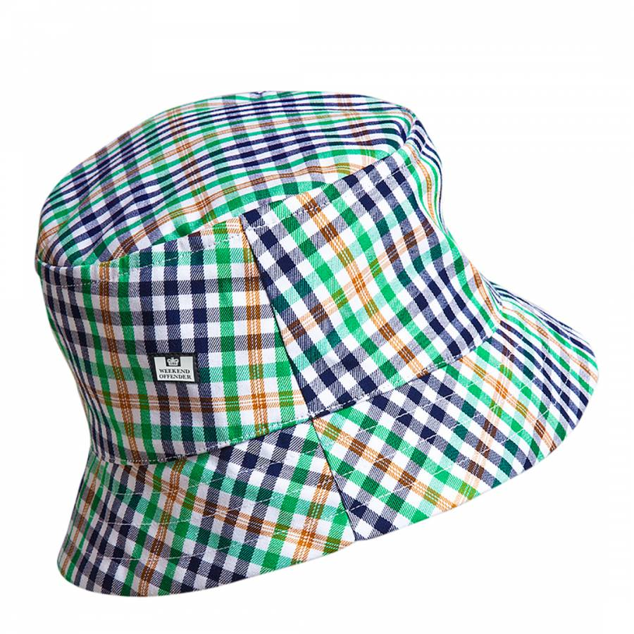 2765ee0da15 Weekend Offender Green Nelson Check Print Bucket Hat