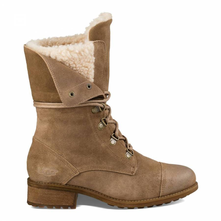 9b8f4448640 UGG Sand Suede Gradin Boots