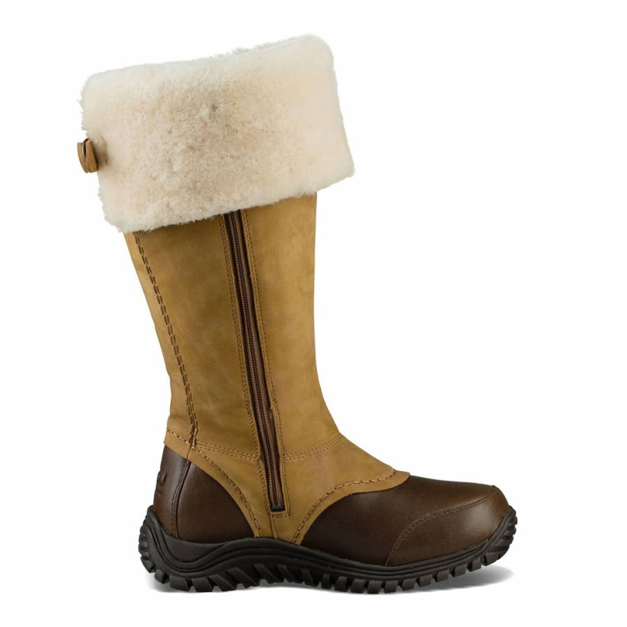 3f7d465baa5 Brown Waterproof Leather Miko Boots - BrandAlley